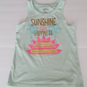 Circo Girls Sunshine & Happiness Tank Top Sz 7